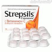 Стрепсилс с витамином C