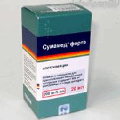 Препарат (лекарство): Сумамед форте на сайте Фармацевтическая Web-энциклопедия