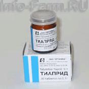 Препарат (лекарство): Тиаприд на сайте Фармацевтическая Web-энциклопедия