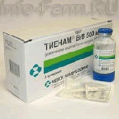 Препарат (лекарство): Тиенам на сайте Фармацевтическая Web-энциклопедия