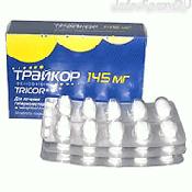 Препарат (лекарство): Трайкор на сайте Фармацевтическая Web-энциклопедия