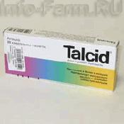 Препарат (лекарство): Тальцид на сайте Фармацевтическая Web-энциклопедия