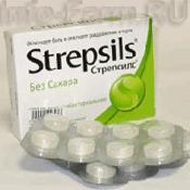 Препарат (лекарство): Стрепсилс с лимоном и травами на сайте Фармацевтическая Web-энциклопедия
