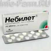 Препарат (лекарство): Небилет на сайте Фармацевтическая Web-энциклопедия