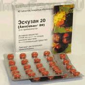 Препарат (лекарство): Эскузан 20 на сайте Фармацевтическая Web-энциклопедия