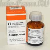 Препарат (лекарство): Аминалон на сайте Фармацевтическая Web-энциклопедия