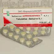 Препарат (лекарство): Алпизарин на сайте Фармацевтическая Web-энциклопедия