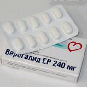 Препарат (лекарство): Верогалид ер на сайте Фармацевтическая Web-энциклопедия