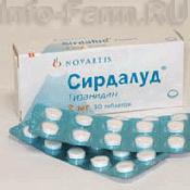 Препарат (лекарство): Сирдалуд на сайте Фармацевтическая Web-энциклопедия