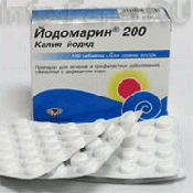 Препарат (лекарство): Йодомарин 200 на сайте Фармацевтическая Web-энциклопедия