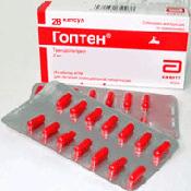 Препарат (лекарство): Гоптен на сайте Фармацевтическая Web-энциклопедия