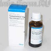 Препарат (лекарство): Тартефедрель н на сайте Фармацевтическая Web-энциклопедия