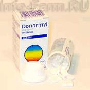 Препарат (лекарство): Донормил на сайте Фармацевтическая Web-энциклопедия