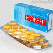 Препарат (лекарство): Нобен на сайте Фармацевтическая Web-энциклопедия