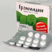 Препарат (лекарство): Граммидин на сайте Фармацевтическая Web-энциклопедия
