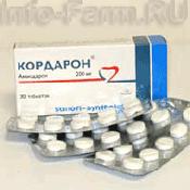 Препарат (лекарство): Кордарон на сайте Фармацевтическая Web-энциклопедия