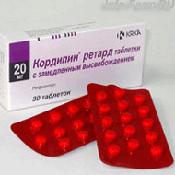Препарат (лекарство): Кордипин ретард на сайте Фармацевтическая Web-энциклопедия