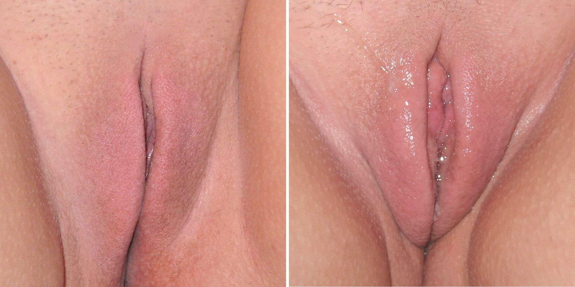 Телка с пирсингом на половых губах 13 фотография